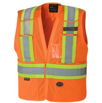 Pioneer 6932 Drop Shoulder Safety Tear Away Vest - Hi-Viz Orange | Safetywear.ca