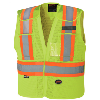 Safety Yellow - 6933 Hi-Viz Drop Shoulder Safety Tear-Away Vest