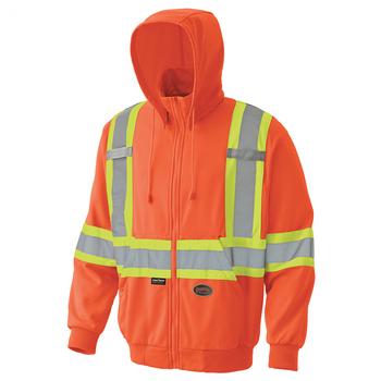 Pioneer 6940 Hi-Viz Micro Fleece Zip Hoodie - Hi-Viz Orange   Safetywear.ca