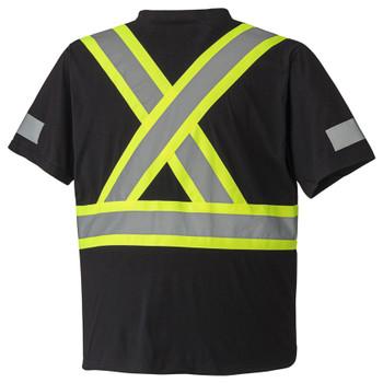 Black - 6976 Cotton Safety T-Shirt