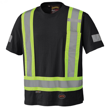 Black - 6976 Cotton Safety T-Shirt