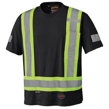 Pioneer 6976 100% Cotton Safety T-shirt - Black | Safetywear.ca