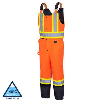Pioneer 5040BB Waterproof Insulated Bib Pants - Hi-Viz Orange | Safetywear.ca