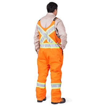 Pioneer 5534A Flame Resistant/ARC Rated Quilted Cotton Insulated Safety Overalls - Orange | Safetywear.ca