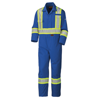 Pioneer 5558A Flame Resistant/ARC Rated Safety Coveralls - Royal | Safetywear.ca