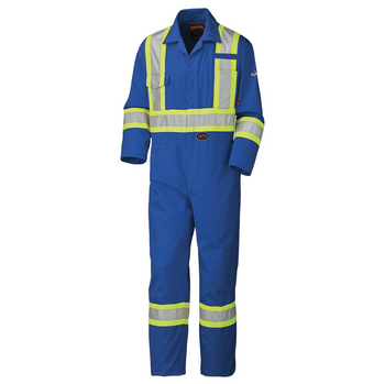 Pioneer 5558AT Flame Resistant/ARC Rated Safety Coveralls - Royal (Tall) | Safetywear.ca
