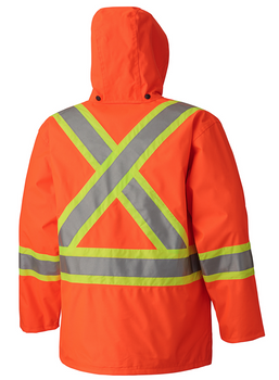 S Orange Pioneer V1170150-S High Visibility Quilted Freezer Jacket