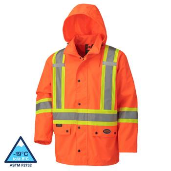 Pioneer 5575A Hi-Viz 100% Waterproof Jacket | Safetywear.ca