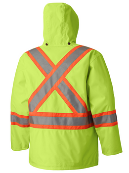 Safety Yellow - 5585A 450D Hi-Viz 100% Waterproof Jacket