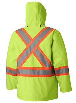 Safety Yellow - 5585A 450D Hi-Viz 100% Waterproof Jacket