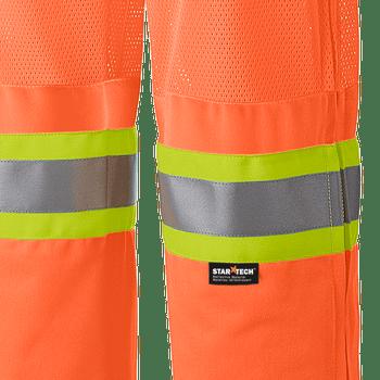 Pioneer 6001P Traffic Safety Mesh Leg Panels Pants - Hi-Viz Orange | Safetywear.ca
