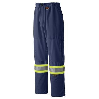 Pioneer 6003P Mesh Leg Panels Traffic Safety Pants - Navy | Safetywear.ca