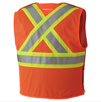 Pioneer 6914A Flame Resistant Tear-Away Vest - Hi-Viz Orange| | Safetywear.ca