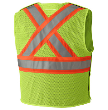 Pioneer 6916A Flame Resistant Tear-Away Vest - Hi-Viz Yellow/Green | Safetywear.ca