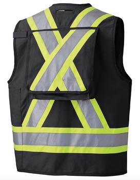 Pioneer 694BK Surveyor's/Supervisor's Safety Vest - Black | Safetywear.ca