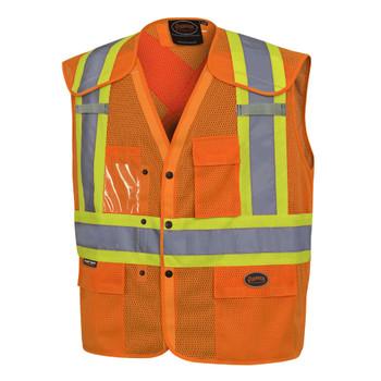Pioneer 6938A Drop Shoulder Safety Vest - Hi-Viz Orange   Safetywear.ca
