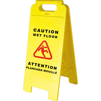 301 Bilingual Janitorial Wet Floor Sign