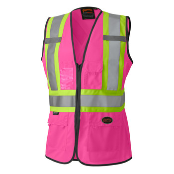 Pioneer 139PK Women's Safety Vest - Hi-Viz Pink   Safetywear.ca
