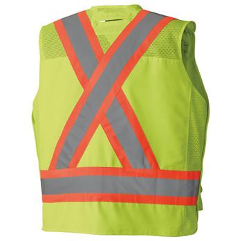 Pioneer 6695 Drop Shoulder Tear Away Surveyor Safety Vest - Hi-Viz Yellow/Green   Safetywear.ca