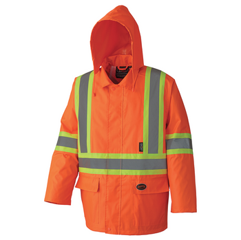 Safety Orange - 5608 Tough 210D Oxford Poly/PVC Waterproof Suit