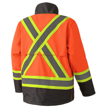 5400 300D Hi-Viz Trilobal Ripstop Waterproof Safety Jacket