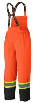 Pioneer 5404 Waterproof Safety Bib Pants - Hi-Viz Orange | Safetywear.ca