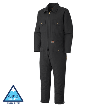 Pioneer 520A Quilted Cotton Duck Coverall - Black | Safetywear.ca