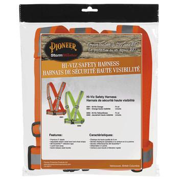 Pioneer 5591 Adjustable 4-Point Tear-Away Safety Sash - Hi-Viz Orange | Safetywear.ca