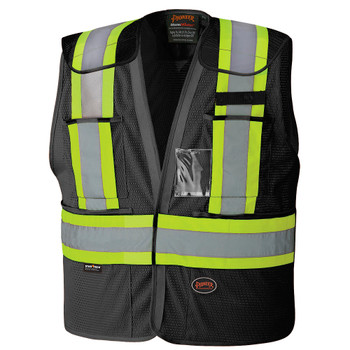 Black - 6933BK Hi-Viz Safety Tear-Away Vest