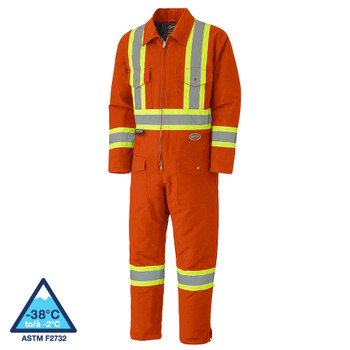 Pioneer 5540A Quilted Cotton Duck Safety Coverall - Orange | Safetywear.ca