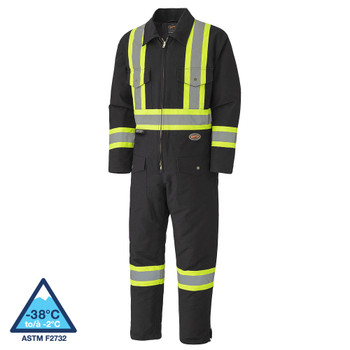 Pioneer 5539BKA Quilted Cotton Duck Safety Coverall - Black | Safetywear.ca