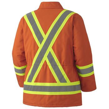 Pioneer 5537A Quilted Cotton Duck Parka - Orange | Safetywear.ca