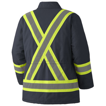 Pioneer 5535A Quilted Cotton Duck Parka - Navy | Safetywear.ca