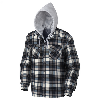 415BG Quilted Hooded Polar Fleece Shirt