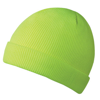 Pioneer 5567A 100% Acrylic Knit Lined Toque - Hi-Viz Yellow/Green | Safetywear.ca