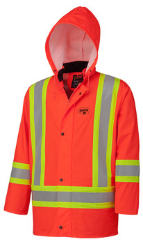 5892 Flame Resistant PU Stretch Hi-Viz Rain Jacket