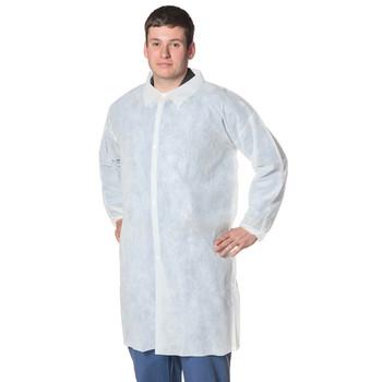 Pioneer 2036 Disposable Polypropylene Lab Coat - White | Safetywear.ca