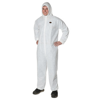 Pioneer 2045 Disposable SMS Coverall Zipper Front - White | Safetywear.ca