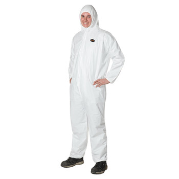 Type 4 White S Pioneer V7016750-S Microporous Coverall