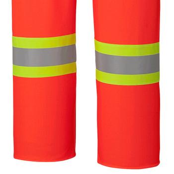 Pioneer 5893 Flame Resistant Waterproof Safety Bib Pants - Hi-Viz Orange | Safetywear.ca
