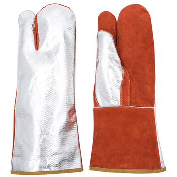 695FL High Heat Aluminized/Leather Combo Mitt
