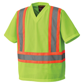 Pioneer 5993P Safety Poly Mesh Shirt - Hi-Viz Yellow/Green | Safetywear.ca