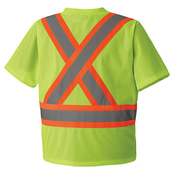 Safety Yellow - 5993P Hi-Viz Traffic T-shirt Front
