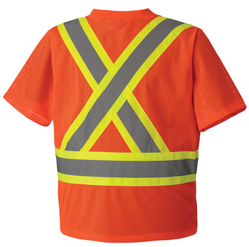5992P Hi-Viz Traffic T-shirt Back