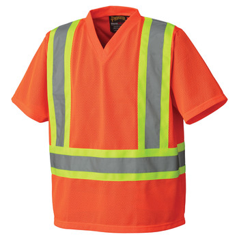 Pioneer 5992P Poly Mesh Safety T-shirt - Hi-Viz Orange | Safetywear.ca