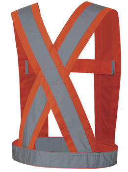 "5491 Hi-Viz CSA 4"" Wide Adjustable Sash Back"