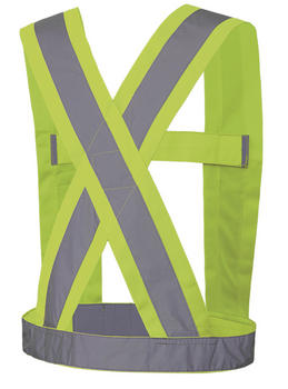 Pioneer 5493 Adjustable Safety Sash - Hi-Viz Yellow/Green (Tall) | Safetywear.ca