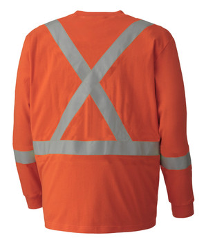 Pioneer 339SFA Flame Resistant/ARC Rated Long Sleeve Safety Shirt - Orange | Safetywear.ca