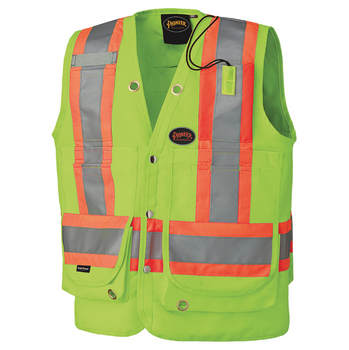 Pioneer 6696 Surveyor's Safety Vest - Hi-Viz Yellow/Green   Safetywear.ca