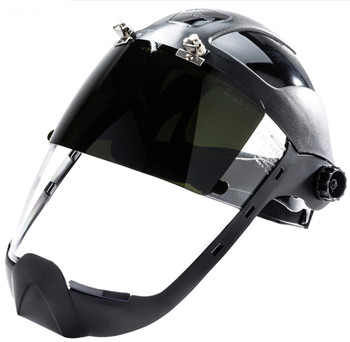 S32251 Multi-Purpose Face Shield With Flip-Up IR Window And Ratcheting Headgear